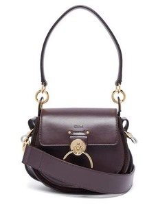 Chloé Tess small leather and suede cross-body bag