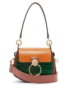 Chloé Tess small lizard-effect leather cross-body bag