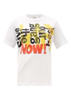 Chloé Text-print cotton-jersey T-shirt