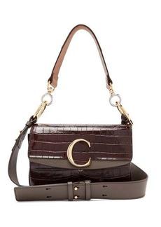Chloé The C crocodile-effect leather shoulder bag