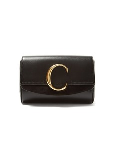 Chloé The C leather and suede belt bag