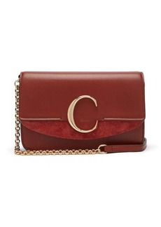 Chloé The C leather and suede cross-body bag