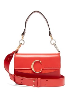 Chloé The C leather and suede shoulder bag