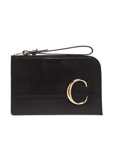 Chloé The C leather pouch