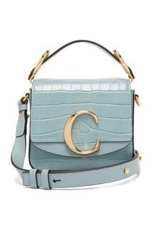 Chloé The C mini crocodile-effect leather cross-body bag