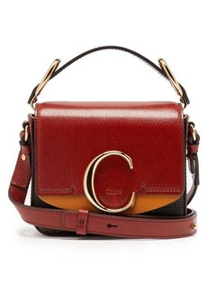 Chloé The C mini crocodile-effect leather shoulder bag