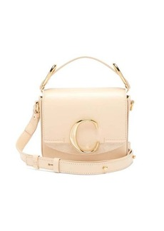 Chloé The C mini leather and suede shoulder bag