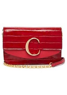 Chloé The C mini leather clutch bag
