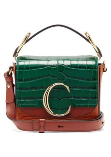 Chloé The C mini lizard-effect leather cross-body bag