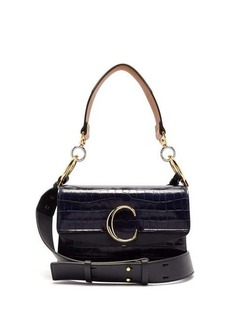 Chloé The C small crocodile-effect leather shoulder bag