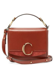 Chloé The C squared leather and suede cross-body bag