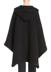 Chloé Tie Front Hooded Cape
