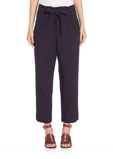 Chloé Tie-Waist Jacquard Pants