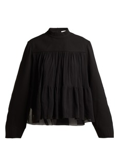 Chloé Tiered mousseline blouse