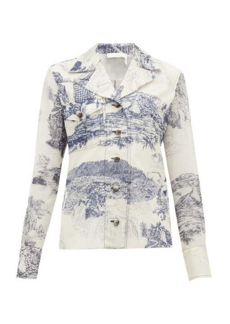Chloé Toile de Jouy-print silk blouse