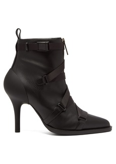 Chloé Tracy leather and grosgrain ankle boots
