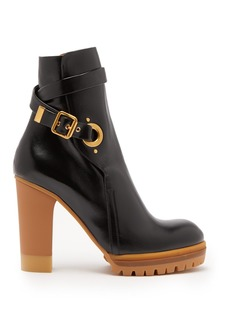 Chloé Trek buckled leather ankle boots