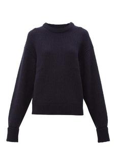 Chloé Turn-up cuff ribbed merino wool-blend sweater