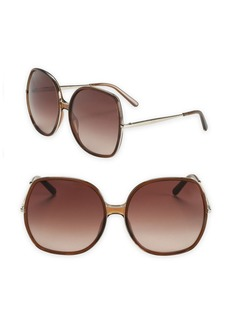Chloé Turtledove 62MM Oversized Round Sunglasses