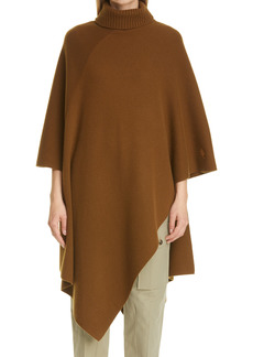 Chloé Turtleneck Asymmetrical Cape Cashmere Sweater