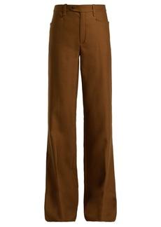 Chloé Tuxedo high-rise wool-blend trousers