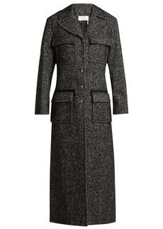 Chloé Tweed wool-blend single-breasted coat