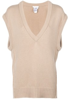 Chloé v-neck loose knitted top - Nude & Neutrals