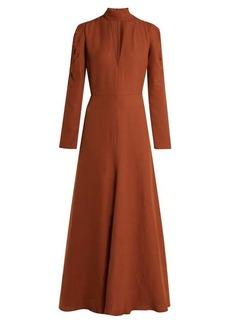Chloé V-neck silk-blend crepe dress