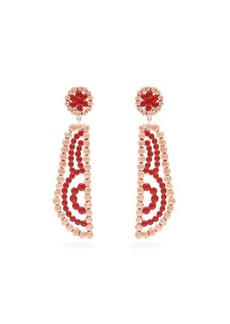 Chloé Valeria lacquered clip earrings