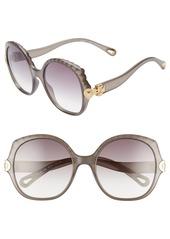 Chloé Vera 56mm Seashell Shape Sunglasses