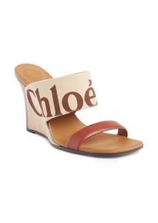 Chloé Verena Logo Wedge Sandal (Women)