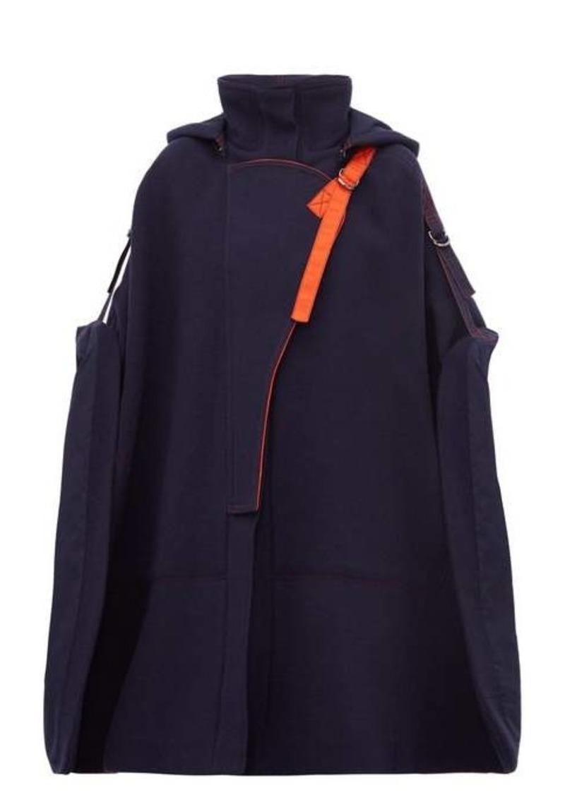 Chloé Virgin wool-blend buckled-shoulder cape