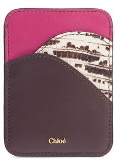Chloé Walden Embossed Leather Card Holder
