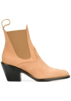 Chloé western chelsea boots - Brown