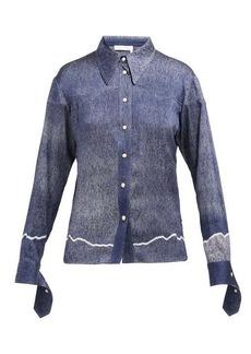Chloé Western dégradé stretch-silk shirt