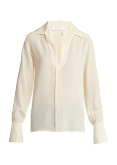Chloé Wide-collar silk blouse