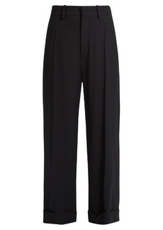Chloé Wide-leg cady cropped trousers
