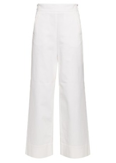 Chloé Wide-leg cotton-twill trousers