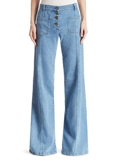 Chloé Wide Leg Denim Jeans