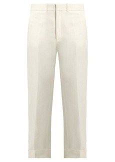 Chloé Wide-leg linen and silk-blend twill trousers