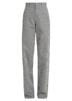 Chloé Wide-leg striped cotton trousers