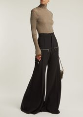 Chloé Wide-leg virgin-wool blend trousers