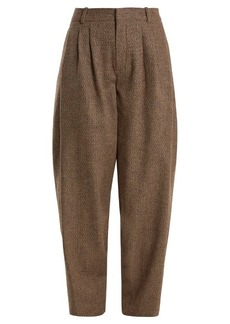 Chloé Wide-leg wool-blend tweed trousers