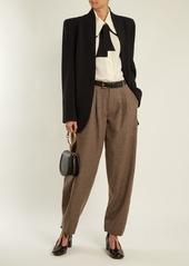 Chloé Wide-leg wool-blend tweed trousers