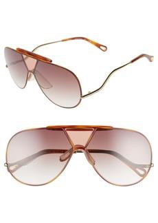 Chloé Willis 64mm Navigator Sunglasses