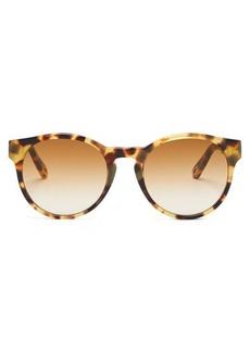 Chloé Willow round tortoiseshell-effect sunglasses