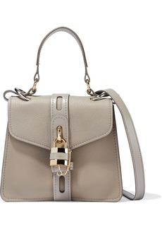 Chloé Woman Aby Day Pebbled-leather Shoulder Bag Stone