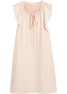 Chloé Woman Bow-detailed Cady Mini Dress Pastel Pink