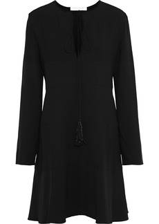 Chloé Woman Bow-detailed Crepe Dress Black