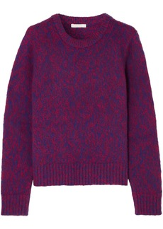 Chloé Woman Brushed Wool And Cashmere-blend Sweater Purple